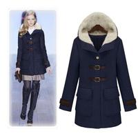 2014 winter new European & American long section woolen women coat woolen coat plus size cotton wool coat jacket single-breasted