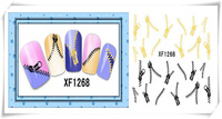 Fashion Chinese Style 3D Design Cute DIY Watermark Zipper Tip Nail Art Nail Sticker NailS Decal