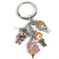 Anime Cartoon 50pcs/lot Uta no Prince Sama Metal Figure Keyring Keychain