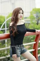 High Quality Spring austumn Fashion Women's Long Sleeve Slim sexy strapless Blouse Tops C3410