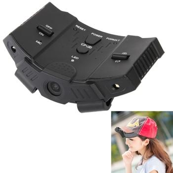 Full HD 720 P камера спорта DVR действий шлем Cap видеокамеры видео-рекордер с 2 из светодиодов свет