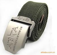 freeshipping new men's casual belt belt tactics birds Wholesale fashion ARMY canvas belt retro braided leather belt