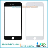 10pcs/lot Outer LCD Screen Lens Top Glass for iPhone 6 4.7 inches lens,Black white,Best quality,Free Shipping