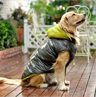 Retail Large Dog Alphabet Print Clothes Winter Clothes Big Dog Jacket Cotton Padded Snow Coat Clothes Pet Clothing Dog Products