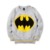 Aones Winter Children's sweater For Boys Long Sleeve Batman Baby Clothes Autumn Knitting Pullover Cartoon Kids Sweater ECT-058
