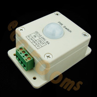 Automatic PIR Infrared Motion Sensor Lighting Switch 8A 12V ~ 24V for LED light wall mount