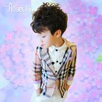High quality children Leisure suit 2014 autumn outerwear slim male child autumn blazer 100% cotton child outerwear