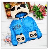 Winter child autumn and winter wadded jacket cartoon pocket cotton-padded jacket bear cotton-padded jacket girl winter coat