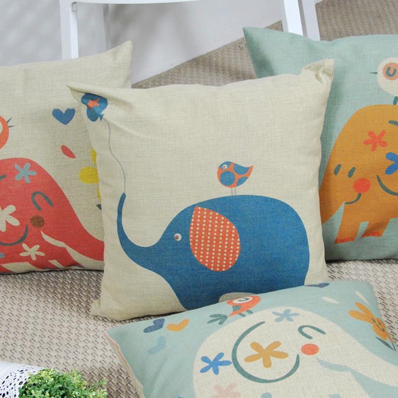 mr kaobao bebê elefante almofada fronha minimalista estilo cartoon 100% algodão decorativo fronha atacado(China (Mainland))