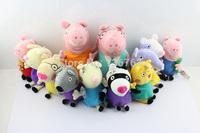 Free Shipping 12pcs/set Peppa Pig Family Peppa Pig Friends peppa pig plush peppa pig Friend candy suzy zoe pedro richard