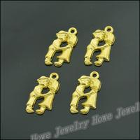 100 pcs Charms People Kissing Pendant  Gold color  Zinc Alloy Fit Bracelet Necklace DIY Metal Jewelry Findings JC561