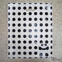 wholesale custom make printing polka dot plastic shopping bag C44(China (Mainland))
