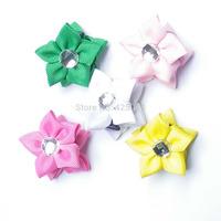 Hair Bows Ribbon Bow Flowers Headwear Girls Accessories Bow Hair Baby Girl Clips Barrette Hairpins for Hair 20 pcs/lot