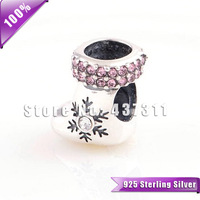 2014 New arrive Christmas stocking charms 925 sterling silver For Christmas gift diy Fits European style bracelets YZ556