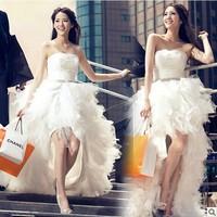 2014 Winter Bridal Wedding Dress Lace Gown Wedding Dresses New Pregnant Women Wedding Dress 0799
