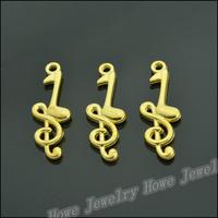 85 pcs Charms Note Pendant  Gold color  Zinc Alloy Fit Bracelet Necklace DIY Metal Jewelry Findings JC569