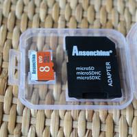 Pass H2testw Test Real capacity Micro SD CARD 8GB Class 4 Transflash flash Memory Card+white plastic box +gift adapter freeship