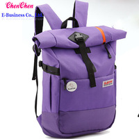 A0190 Lovely wind bag at student backpack large capacity  hiking backpack Sturdy nylon ribbon The purple  bag  Free shipping