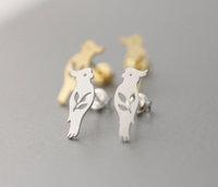 Cute Bird stud earrings. Parrot jewelry bird earring