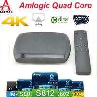 1pc Original CX-S806 Amlogic S812 Quad Core H.265 HEVC 4K2K UHD  XBMC TV Box 2G/8G 4xCortex A9  Android 4.4 Bluetooth 4.0 HDMI