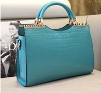 Woman PU Leather Handbags Crocodile Pattern hand Bag  2014 new women Bag noble OL style big size