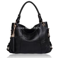 2014 New designer women genuine leather bag Luxury elegant women handbags cross-body messenger totes bag carteira feminina