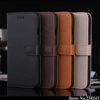 "Genuine Leather Case for iPhone 6 iPhone6 apple 4.7"" Card Holder Stand Design Wallet Flip Cover Business Man Mobile Phone Bag"