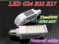 Hot ! G24 B22 E27 35leds 5050smd 12W LED Corn Horizon Down Light Bulb Lamp AC85-265V natural white CE RoHs