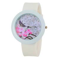 2015 New Fashion Women Quartz  Butterfly Casual  Rhinestone Watches Fashion silicone watch -5