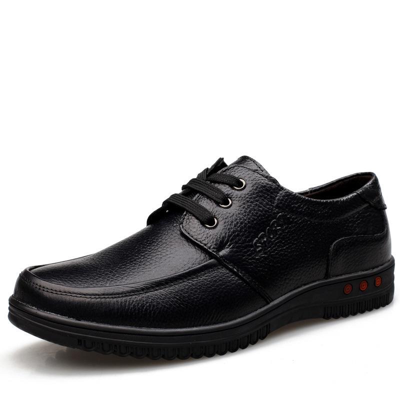 especial nova outono homens casual couro calçados negócios pai idoso sapatos couro factory atacado sapatos masculinos(China (Mainland))