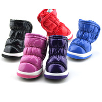NewSmall Dogs Winter Pleated Soft Leather Pet Waterproof Snow Boots Shoes XS-XLFree&Drop Shipping
