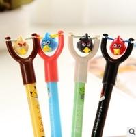 Stylish 24pcs/lot Blue Refill Slingshot Ballpoint Pen Mix Styles Birds Stationery Office/School Supplies #BP043