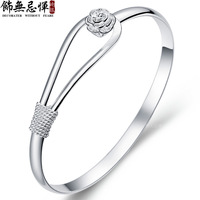 925 silver peones wide bracelet accessories female male fashion lettering gift
