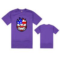 Short O-Neck Cool Mens Tye Dye Spitfire T-Shirt 2014 Summer Fashion Male Funny Tee Shirts Personalized hiphop t shirts Hot Sale