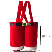 Type #1 Funny Santas Pants Small Basket Candy Elves Christmas Gift Bag Small Sack Snack Stocking Filler Xmas Tree Home Decors