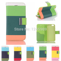 Free shipping  Fashion Luxury Hybrid Leather Wallet Flip Pouch Stand Case Cover For iphone6 5.5'' plus  CN205 P