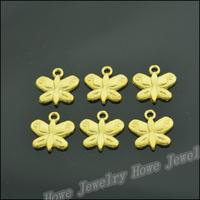 180 pcs Charms  Butterfly Pendant  Gold color  Zinc Alloy Fit Bracelet Necklace DIY Metal Jewelry Findings JC570