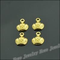 250  pcs Charms Crown Pendant  Gold color  Zinc Alloy Fit Bracelet Necklace DIY Metal Jewelry Findings JC574