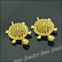12 pcs Charms Tortoise Pendant  Gold color  Zinc Alloy Fit Bracelet Necklace DIY Metal Jewelry Findings JC582