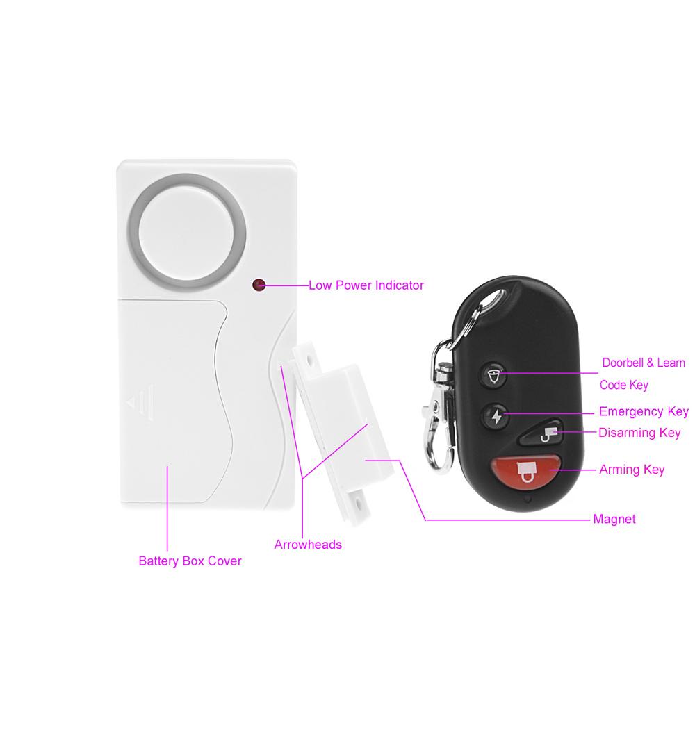 Беспроводной пульт дистанционного управления домашней безопасности домофонов сигнализация предупредительный световой сигнал с датчика для двери окна от 1 до 2