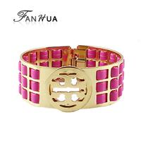 Cuff Brand Bracelets Bangles New Designer Bijoux Women Blue Black White Hot Pink Jewelry