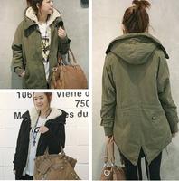 Princess thickening berber fleece dovetail medium-long wadded jacket cotton-padded jacket high quality version m51