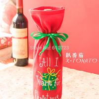 2014 new design,Red wine bag gift bag bottle sets Red wine set for Christmas decoration