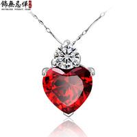 Fashion pure silver necklace female pendant short design chain christmas