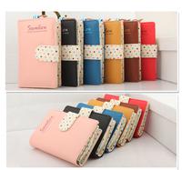 HOT Women Artificial Leather Long Zipper Bag Card Holder Purse Clutch Wallet
