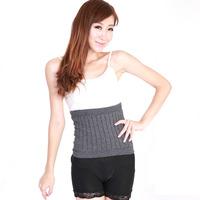 Cashmere Wool Body Waist Warmer Support Back Warmer Waistband Unisex -Black
