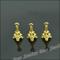 185  pcs Charms Eiffel Tower Pendant  Gold color  Zinc Alloy Fit Bracelet Necklace DIY Metal Jewelry Findings JC584