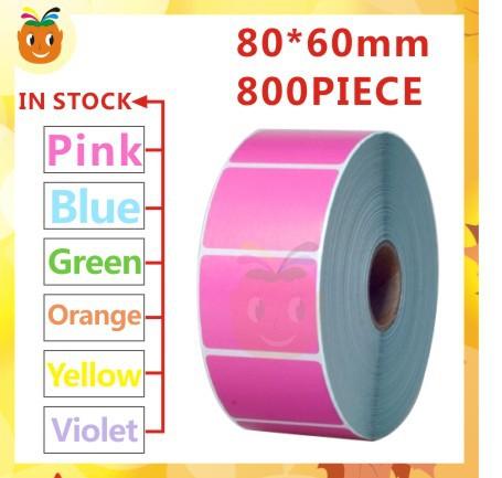 Labels Color Color Thermal Label 80*60mm
