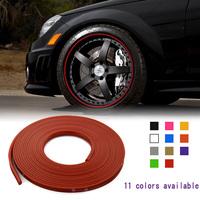 New Car Styling Sticker Vehicle Wheel Rim Protective Rubber Universal Moulding Trim Stripe