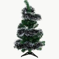 Free Shipping 2014 Newest 1pcs Dark Green & Snow Tinsel Christmas Tree Ornament Decoration Decor Gift